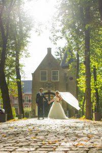 bruidsreportage door de fotofamkes in de buitenlucht